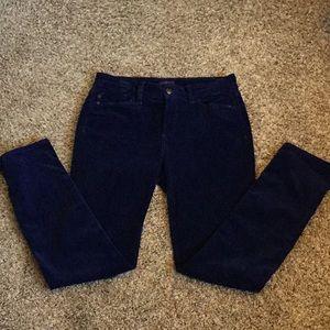 NYDJ Corduroy pants/legging size 4 blue